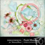 Fresh Morning Embellishment Pack-$2.99 (Indigo Designs)