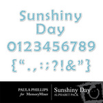 Sunshiny Day PP Alphabet Pack-$0.75 (Paula Phillips)