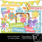 Sunshiny Day PP Embellishment Pack-$1.50 (Paula Phillips)