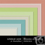 Blooms of Spring Embossed Paper Pack-$2.49 (Lindsay Jane)