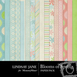 Blooms of Spring Paper Pack-$3.99 (Lindsay Jane)