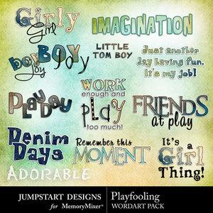 Playfooling wordart medium