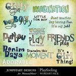 Playfooling wordart small