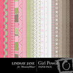 Girl Power Paper Pack-$3.99 (Lindsay Jane)
