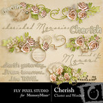 Cherish wordart and clusters small