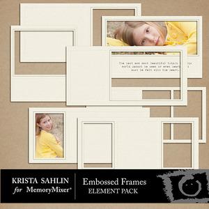 Embossed frames medium