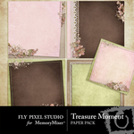 Treasure Moment Deco Paper Pack-$2.99 (Fly Pixel Studio)