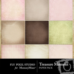 Treasure Moment Paper Pack-$3.99 (Fly Pixel Studio)