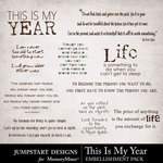 This is My Year WordArt Pack-$1.99 (Jumpstart Designs)