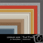 Tool Time Embossed Paper Pack-$1.25 (Lindsay Jane)
