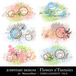 Flowers n Fantasies Scatters Pack-$2.89 (Jumpstart Designs)