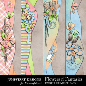 Flowers n fantasies borders medium