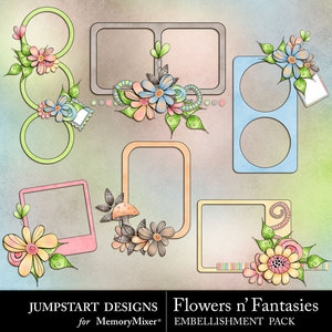 Flowers n fantasies cluster frames medium