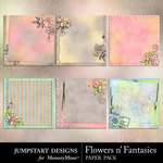 Flowers n Fantasies Stacked Paper Pack-$3.49 (Jumpstart Designs)