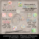 Flowers n Fantasies Flair Pack-$1.99 (Jumpstart Designs)