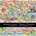 Flowers n Fantasies Embellishment Pack-$4.99 (Jumpstart Designs)