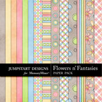 Flowers n Fantasies Paper Pack-$3.99 (Jumpstart Designs)