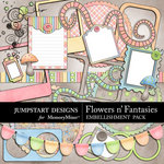 Flowers n Fantasies Add On Embellishment Pack-$2.39 (Jumpstart Designs)