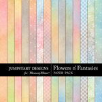 Flowers n Fantasies Add-On Paper Pack-$3.99 (Jumpstart Designs)