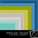 Everyday LJ Embossed Paper Pack-$2.49 (Lindsay Jane)