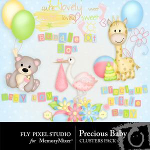 Precious baby clusters medium