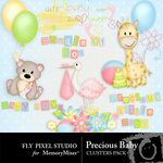 Precious Baby Cluster Pack-$1.99 (Fly Pixel Studio)