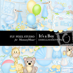 Its a Boy Embellishment Pack-$2.99 (Fly Pixel Studio)