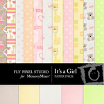 Its a Girl Paper Pack-$3.49 (Fly Pixel Studio)