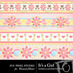 Its a Girl Border Pack-$1.99 (Fly Pixel Studio)