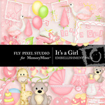 Its a Girl Embellishment Pack-$2.99 (Fly Pixel Studio)