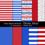 Drinks Ahoy Paper Pack-$1.50 (Tara Reed Designs)