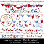 Drinks Ahoy Embellishment Pack-$1.50 (Tara Reed Designs)