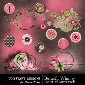 Butterfly whimsy flairs medium