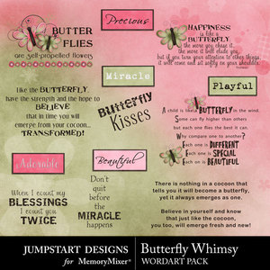 Butterfly whimsy wordart medium