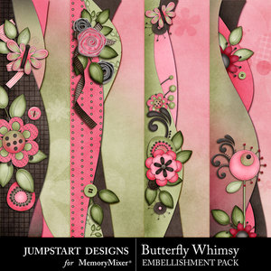 Butterfly whimsy borders medium