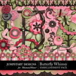 Butterfly Whimsy Embellishment Pack-$3.49 (Jumpstart Designs)