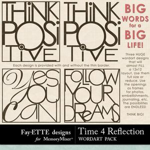 Time 4 reflection big words medium