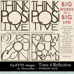 Time 4 Reflection Big Word Pack-$1.99 (Ettes and Company by Fayette)