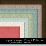 Time 4 Reflection Embossed Paper Pack-$3.99 (Fayette Designs)
