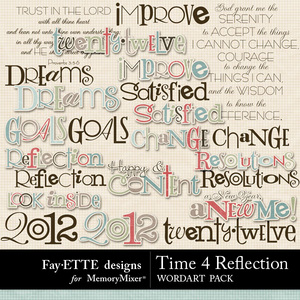 Time 4 reflection wordart medium