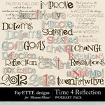 Time 4 Reflection WordArt Pack-$2.99 (Fayette Designs)