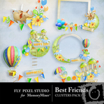 Best Friends Cluster Pack-$1.20 (Fly Pixel Studio)