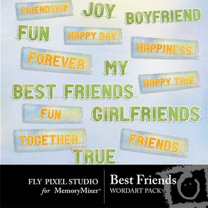 Best friends wordart medium