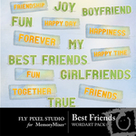Best friends wordart small