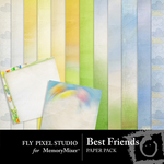 Best Friends Paper Pack-$3.99 (Fly Pixel Studio)