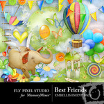 Best Friends Embellishment Pack-$3.00 (Fly Pixel Studio)
