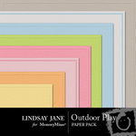 Outdoor Play Embossed Paper Pack-$1.25 (Lindsay Jane)