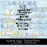 January Frost WordArt Pack-$1.99 (Fayette Designs)