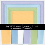 January Frost Textured Paper Pack-$3.49 (Ettes and Company by Fayette)