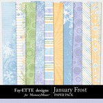 January Frost Paper Pack-$3.99 (Ettes and Company by Fayette)